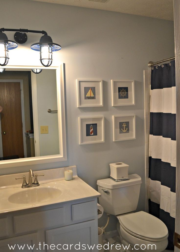 17 best ideas about nautical bathroom decor on pinterest for Bathroom ideas nautical