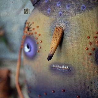 Малый Грибничок , из семейства Набашкегрибывыросличковых)) Текстиль, акриловые краски, стеклянные глаза, дерево, бисер. Для Фантанимы.  Small fungus for Fantnima. Textiles, acrylic paints, glass eyes, wood. #мандрагоринычудовища #мандрагоринотворчество #существа #гриб #мухоморы #mandragora_root #fungus #artdoll #fantanima #fantanima2018
