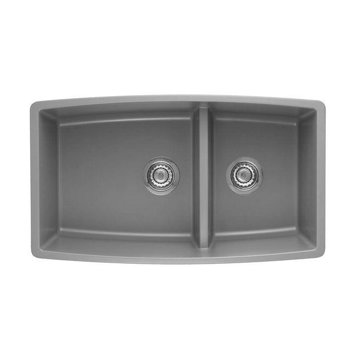 Performa 33 X 19 2 Basin Undermount Kitchen Sink Undermount Kitchen Sinks Double Bowl Undermount Kitchen Sink Granite Kitchen Sinks