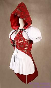 Hooded corset- Your Fantasy Costume Online store. Great piece for halloween. Little