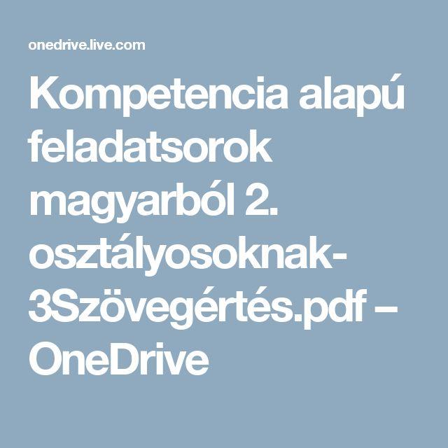 Kompetencia alapú feladatsorok magyarból 2. osztályosoknak- 3Szövegértés.pdf – OneDrive