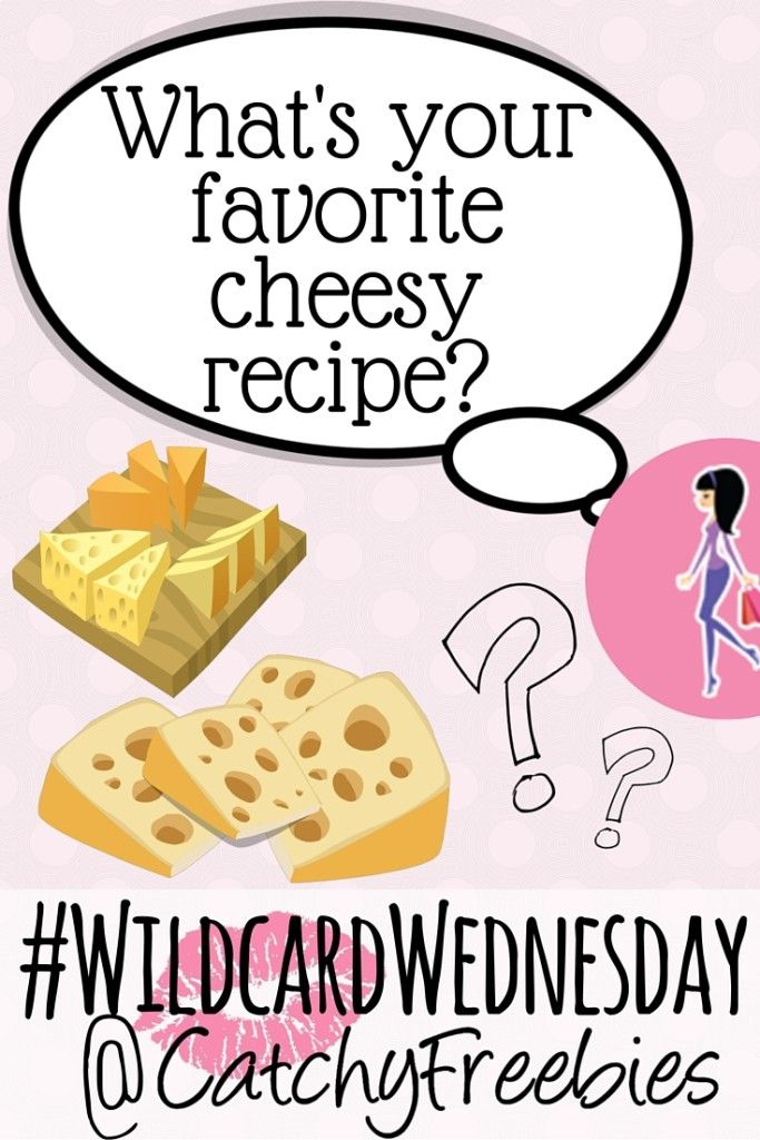 It's #WildcardWednesday AND National Cheese Lover's Day! Celebrate with us by letting us know your favorite cheesy recipe for your chance to win!