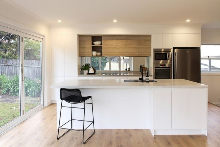 modern kitchen cupboard designs wood floor glass door wall cabinets contemporary design ceiling lights tall dining chair of Appealing Modern Kitchen Cupboard Designs to Get Inspirations From