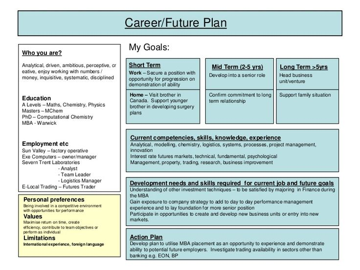 25 Best Ideas About Career Plan Example On Pinterest