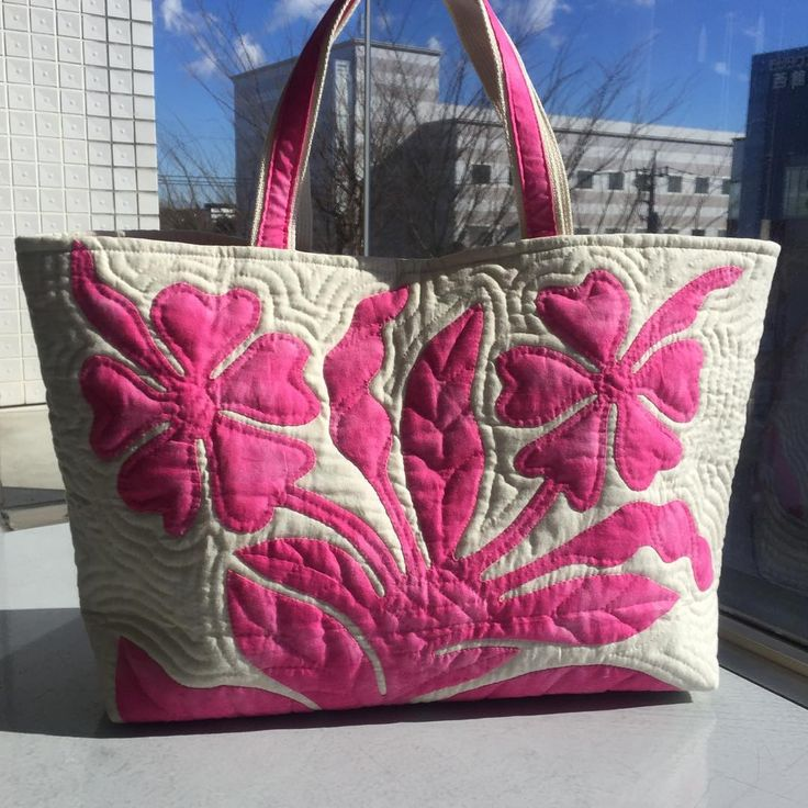 Hawaiian Quilted Tote