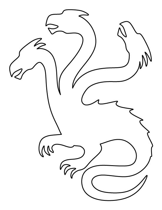 Hydra Pattern Use The Printable Outline For Crafts