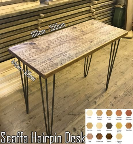 Industrial-Style-Design-Rustic-Scaffold-Office-Desk-Side-Table-with-Hairpin-Legs