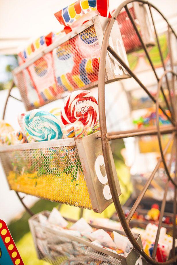 Nostalgic bar candy Mini Ferris wheel could work for drink fruit garnishes.