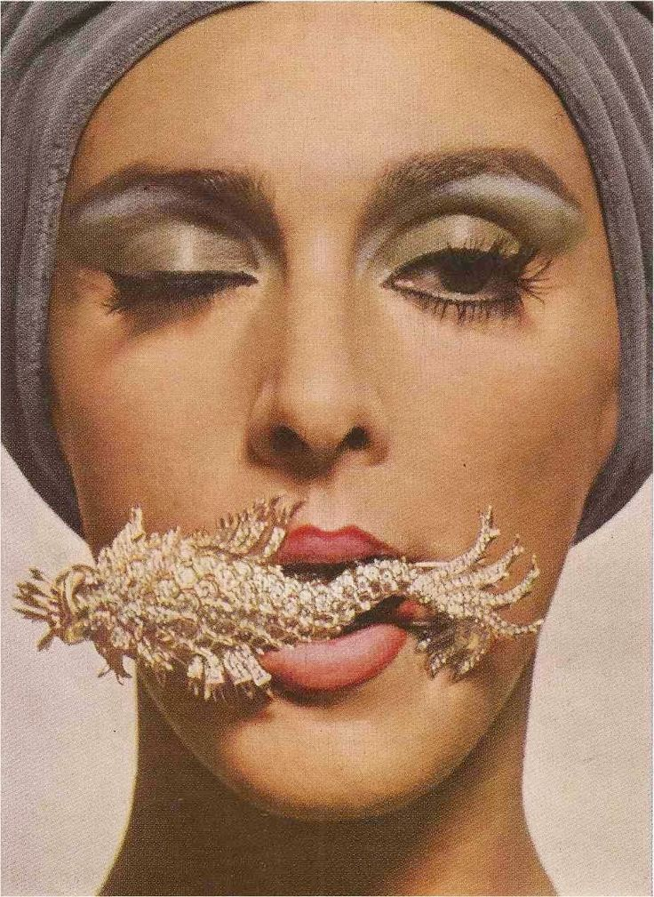 Harper's Bazaar December 1962, The Seventh Sense of Wonderful. Jean Schlumberger for Tiffany's by Hiro Wakabayashi.