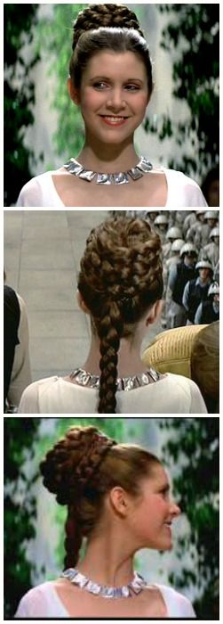 Princess Leia's ceremony hairstyle