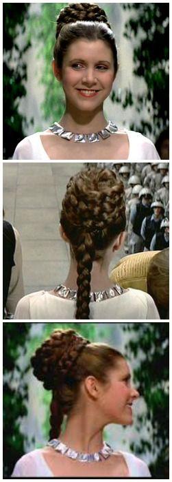 Princess Leia's ceremony hairstyle