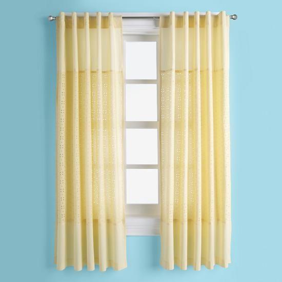 Eyelet Curtain Panels (Yellow)    The Land of Nod