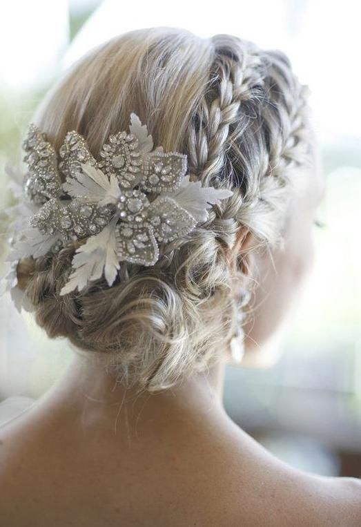 fashion show hairstyles : fancy double French-Braid bun Blonde hair styles Pinterest ...