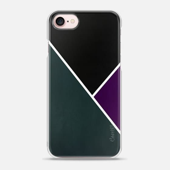 Casetify iPhone 7 Snap Case - Noir Series - Forest To visit full collection: www.casetify.com/profile/nicklasgustafsson/collection?order=latest  #casetify #iphone #case #manly #design #man #classic #style #striped #stripes #texture #colors #black #noir #forest #green #purple