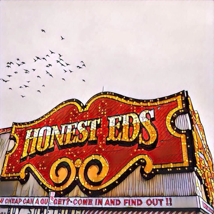 I was disappointed to hear that Honest Ed's will be torn down making way for yet another soulless Toronto condo building. I hardly recognise my city anymore and I'm disappointed we don't do more to protect our cultural heritage even if that heritage is a gaudy incandescent display on a busy street corner. I'm clearly not the only one who feels this way - this image is the basis of one of my most popular pieces and in recognition of that I've got some colour versions in the works.  Ed's we…