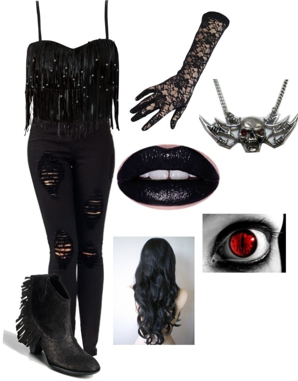 """vampire outfit"" by vampireloversforlife ❤ liked on Polyvore"
