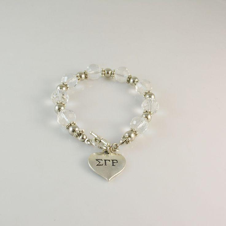 Sigma Gamma Rho Heart Bracelet