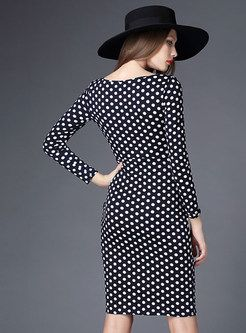 Shop for high quality Women Polka Dot Long Sleeve Pencil Dress online at cheap prices and discover fashion at Ezpopsy.com