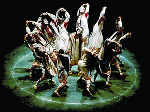 """Stravinsky writes, """"... there arose a picture of a sacred pagan ritual: the wise elders are seated in a circle and are observing the dance before death of the girl whom they are offering as a sacrifice to the god of Spring in order to gain his benevolence. This became the subject of The Rite of Spring."""""""