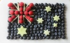 Aussie fruit flag! This is INSPIRED! LOVE IT.