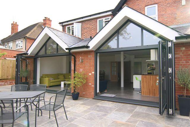 Recent Project – Solarlux SL81 bifolding doors and gable window frames Wokingham, Berkshire – Slide 8