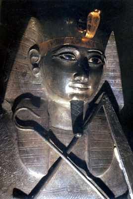Solid silver coffin of Psusennes. Cairo Museum
