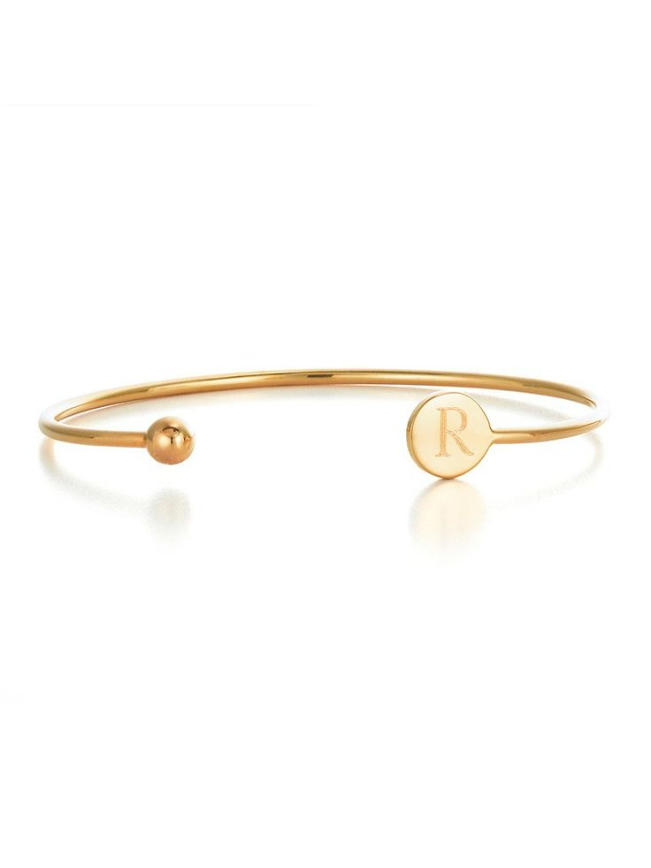get personal with this delicate bangle