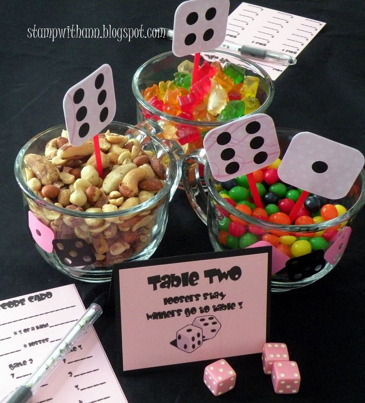 What a cute idea for Bunco!!
