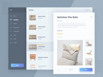 Fluent design - Furniture mall