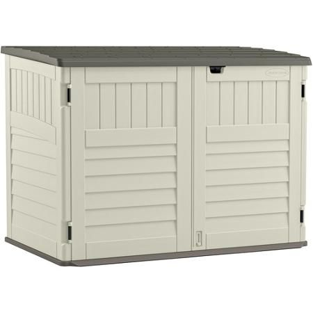 Suncast Toter Trash Can Shed Vanilla