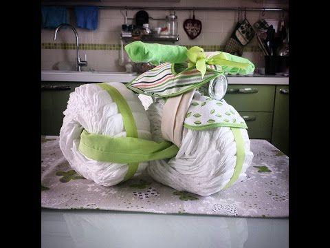 Torta di pannolini: triciclo - YouTube