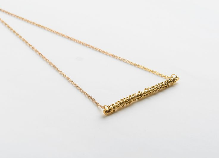 One of my favourite pieces from this collection. Gold plated brass necklace