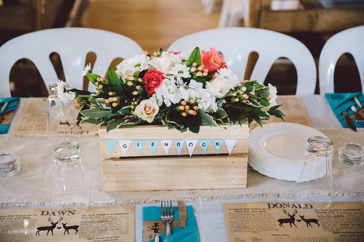 Our crates are great to make a stunning center piece and can be personalized to the occasion too! The NZ Crate Company