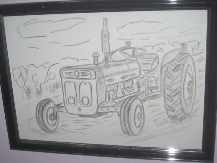 Isän piirtämä traktori