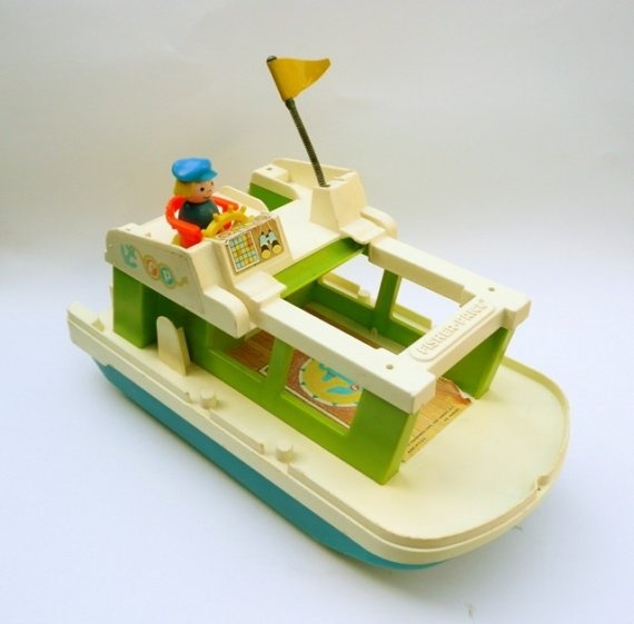 I used to have this Fisher Price toy when I was little. Love the sound the flag made.