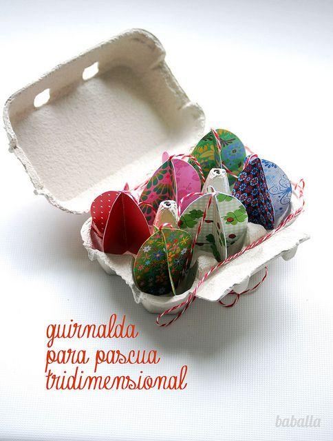 garland 3D, #garland #easter #guirnalda #pascua
