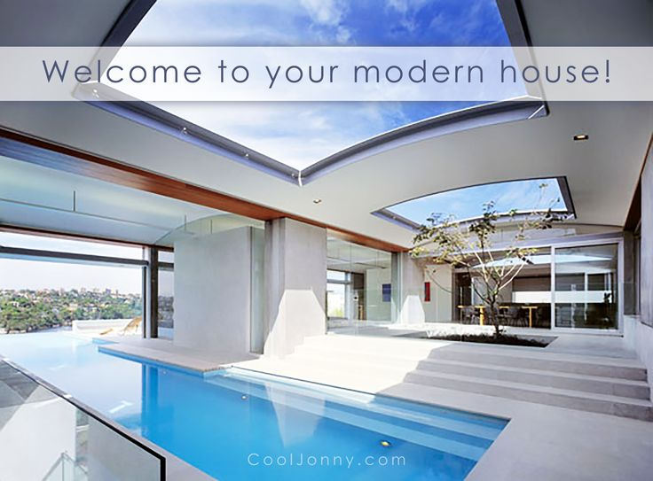 Modern houses are lots of glass, steel and concrete. Would you like to move to a house that is truly an incredible piece of modern architecture? Choose the new one at CoolJonny.com!