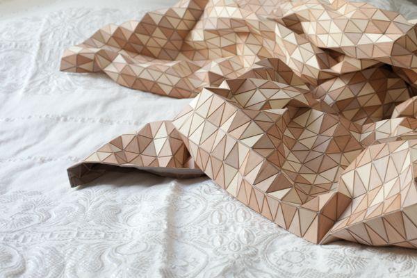 """""""textiles de madera"""" de la diseñadora alemana Elisa Strozyk"""