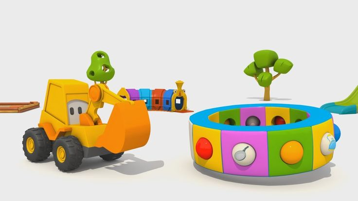Cartoni Animati per Bambini - L'escavatore Max e la fantastica giostra: ...
