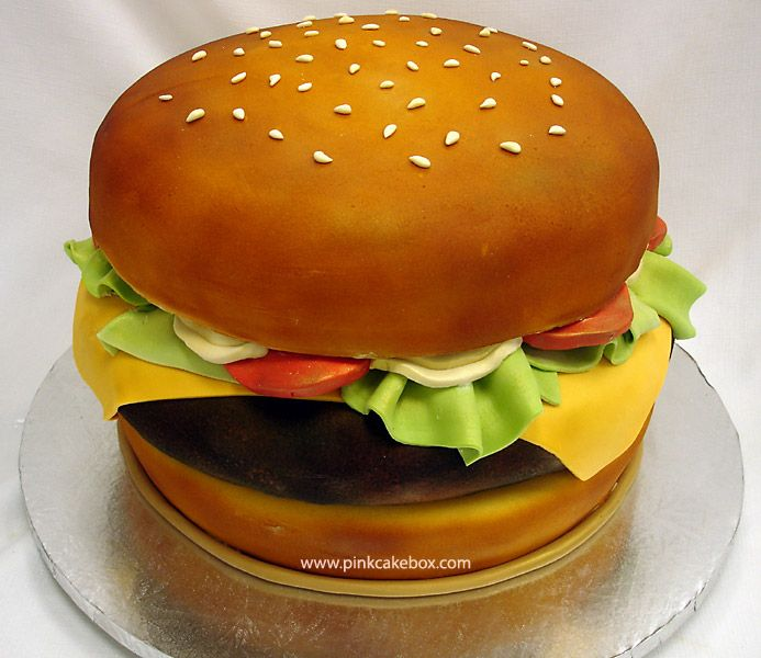 Cake Decorating Class: Creating a Hamburger Cake By Pink Cake Box Wedding
