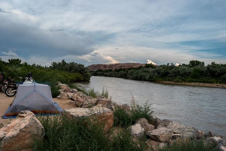 Camping next to the Colorado river