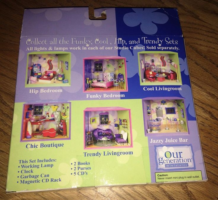 2001 Our Generation Miniatures Hip Bedroom Accessoriesl NEW IN BOX! | eBay