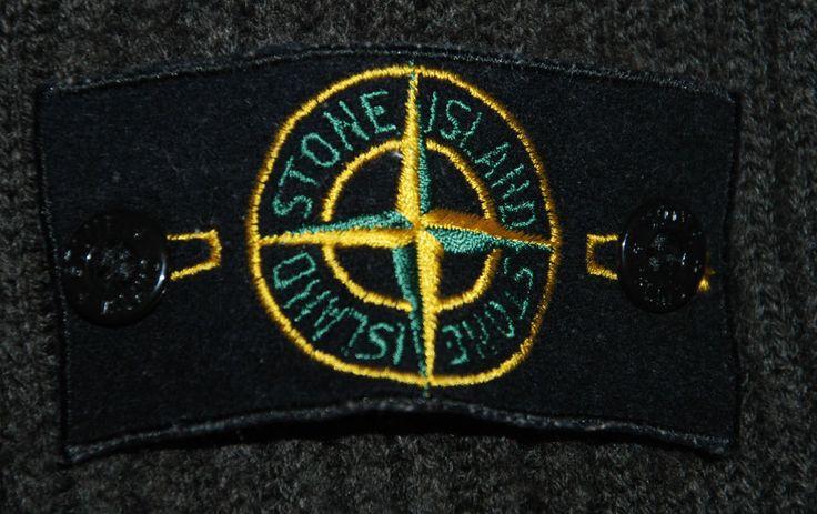 STONE ISLAND WOOL ZIP FUNNEL NECK JUMPER SWEATER PULLOVER RUBBER BLACK XXL