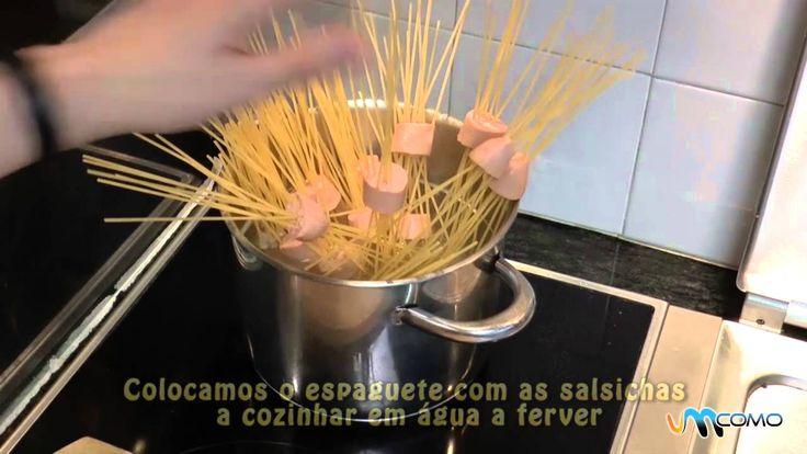 Espaguete com salsicha - Receitas infantis