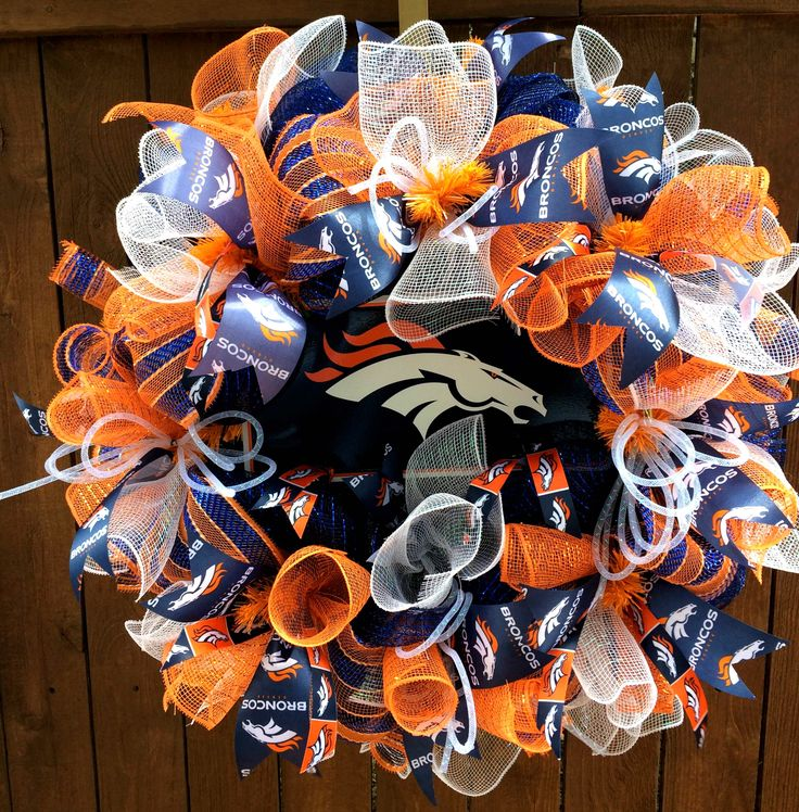 Denver Broncos Sports Fan Wreath