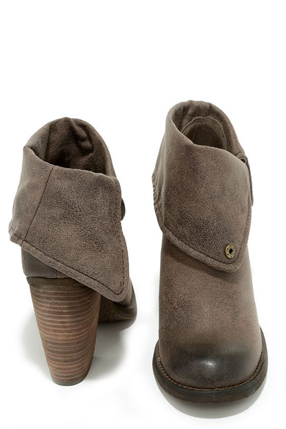 classic balenciaga bag Sbicca Chord Taupe Fold-Over Boots