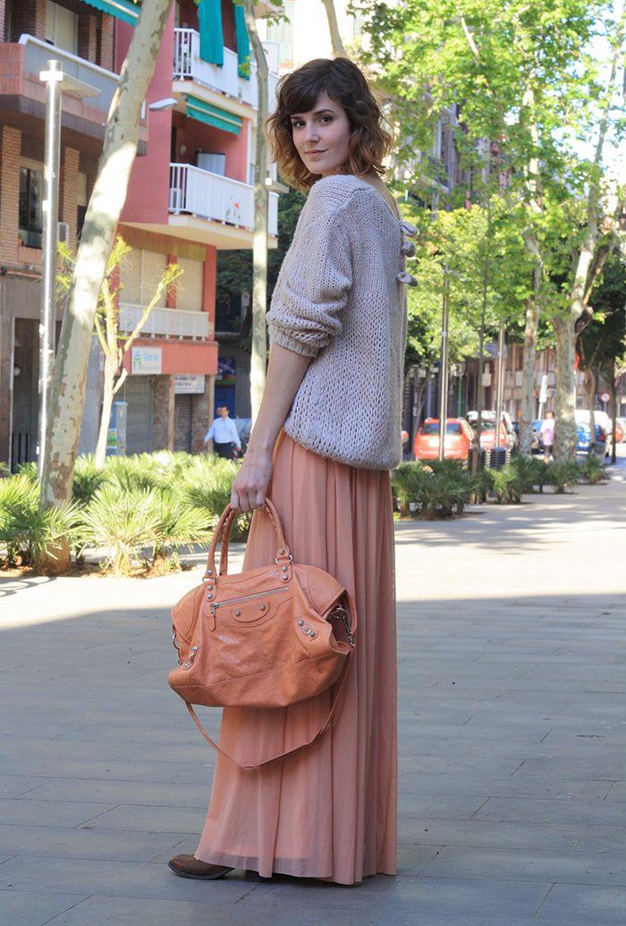 maxi dress + knit