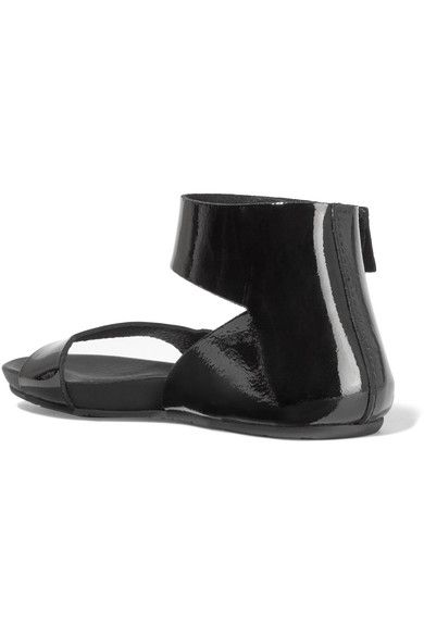 Pedro Garcia - Joline Patent-leather Sandals - Black - IT38.5