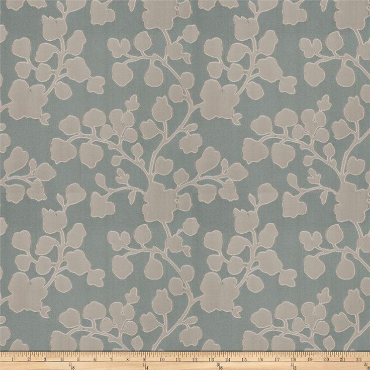 Vern Yip 03352 Satin Jacquard Aqua from @fabricdotcom  This luxurious satin jacquard fabric is perfect for window treatments, toss pillows and light upholstery. Exceeds 25,000 double rubs.