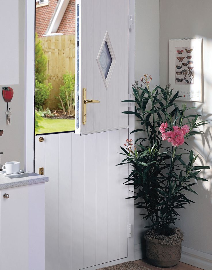 Academy Country Style Composite Stable Door in White.